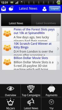 LuckyJar Affiliate Application screenshot 1
