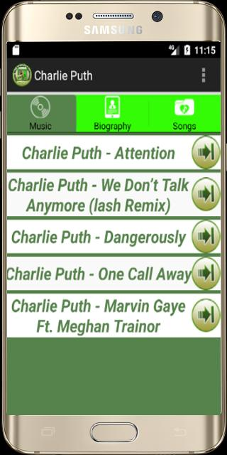 Charlie Puth Attention MP3 for Android - APK Download