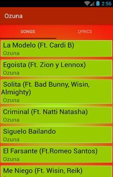 Canción de éxito Ozuna screenshot 1