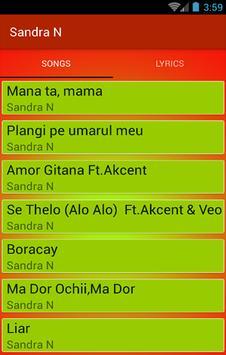 Top MP3 - Sandra N (Muzică) screenshot 1