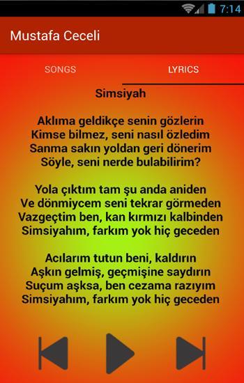 Simsiyah Fan Mustafa Ceceli Icin En Iyi Mp3 For Android Apk Download