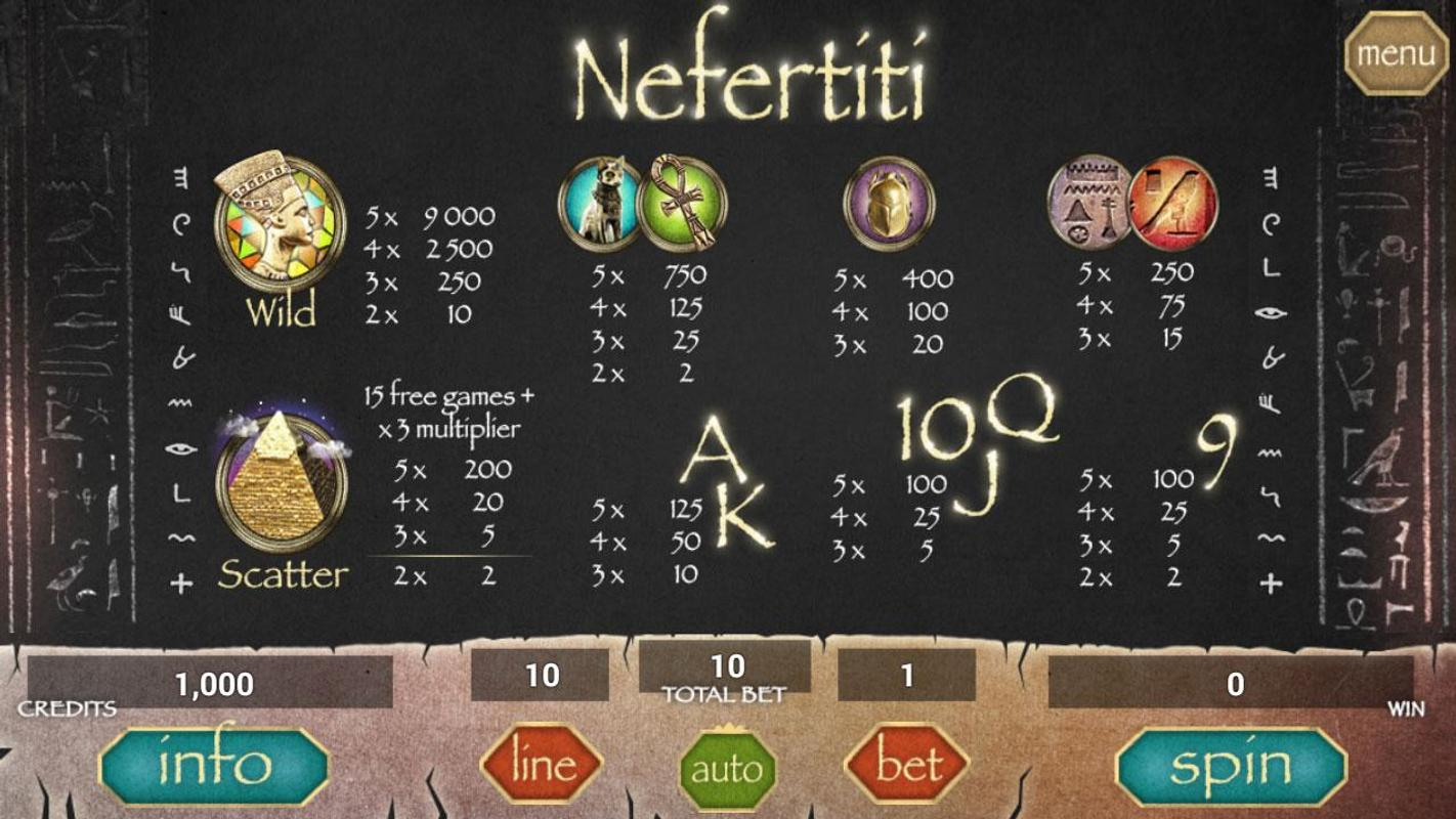 Secret of Nefertiti Slot Machine - Play Online Free Slots by Booongo