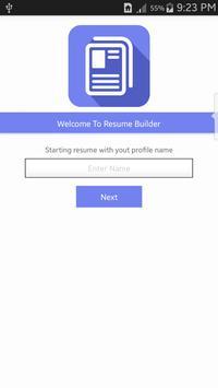 Easy Resume Builder apk screenshot