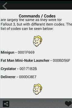 Cheats Fallout 4 apk screenshot