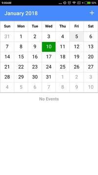 My Calendar screenshot 2