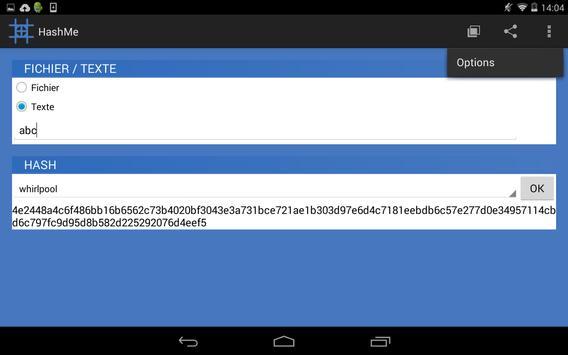 HashMe+ (Lite) apk screenshot