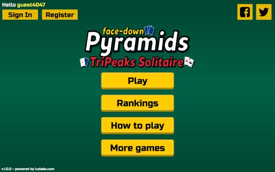 Tripeaks Solitaire [face-down] poster