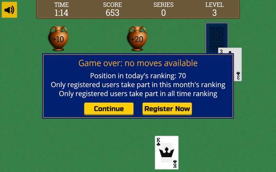 Tripeaks Solitaire [face-down] apk screenshot