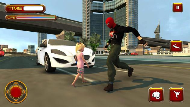 Spider Real Flying Rescue Mission - Superhero Game apk screenshot