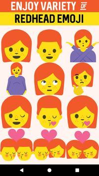 Redhead Emoji Stickers poster