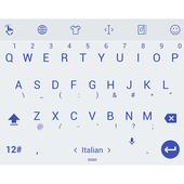 Keyboard Theme Flat White Navy icon