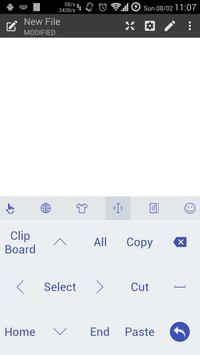 Keyboard Theme Flat White Navy apk screenshot