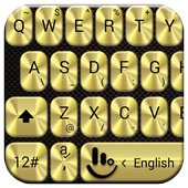 Keyboard Theme Metallic Gold icon