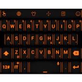 Keyboard Theme Neon Orange icon