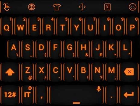 Keyboard Theme Neon Orange apk screenshot