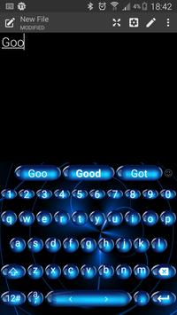 Keyboard Theme Spheres Blue apk screenshot