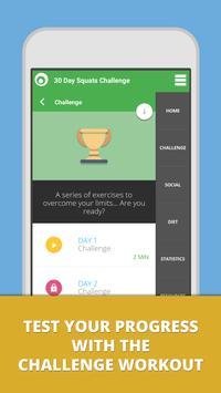 Squat Challenge 30 Day Workout تصوير الشاشة 3