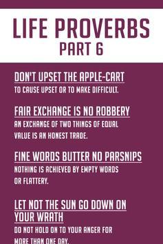 100+ Life Proverbs and Sayings screenshot 1