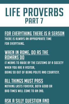 100+ Life Proverbs and Sayings screenshot 2