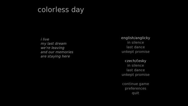 colorless day poster