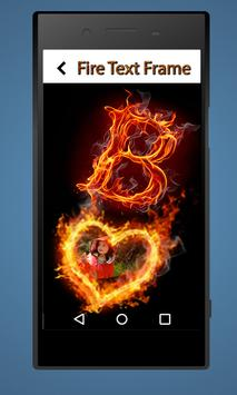 Fire Text Photo Frames : Text on Fire Photos apk screenshot