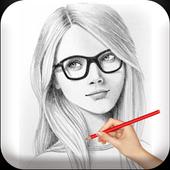 Color Photo Pencil Sketch - Art Drawing Cartoon icon