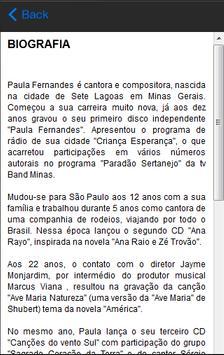 Paula Fernandes Letras screenshot 2