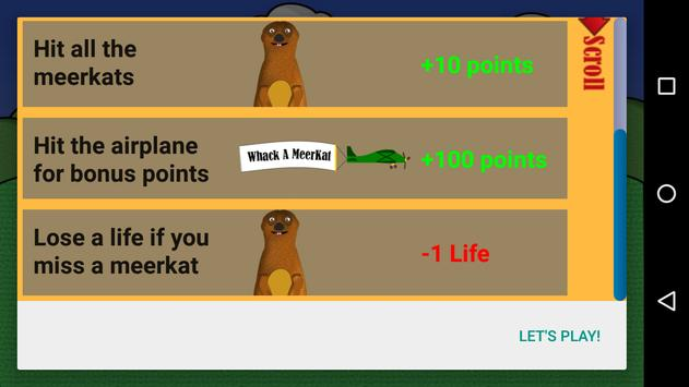 Whack A MeerKat apk screenshot