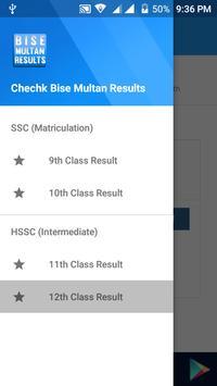 BISE Multan Results poster