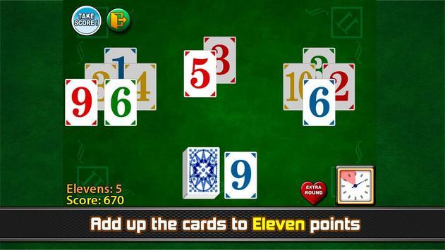 Take Eleven - Eleven solitaire poster