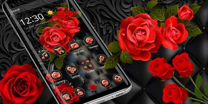 Роскошная черная красная роза скриншот 3