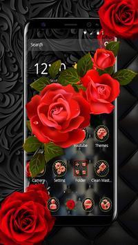 Роскошная черная красная роза скриншот 1