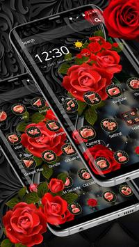 Роскошная черная красная роза скриншот 2
