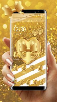 Luxury Gold Bow poster