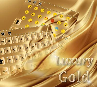 Luxury Gold Keyboard Theme apk screenshot