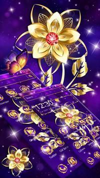 Luxury Golden Purple Flower screenshot 6