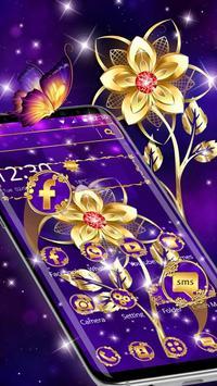 Luxury Golden Purple Flower screenshot 8