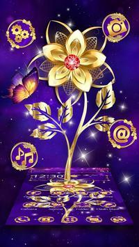 Luxury Golden Purple Flower poster