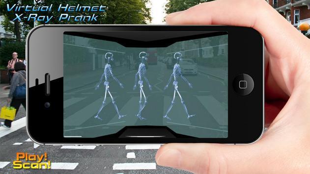 Virtual Helmet X-Ray Prank poster