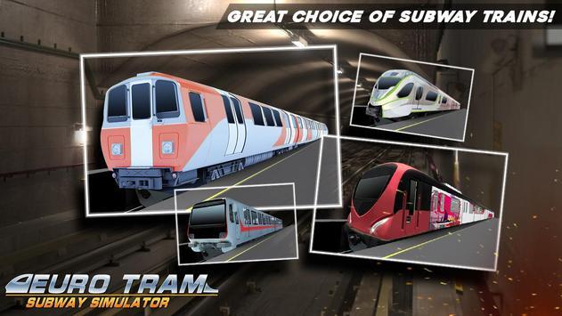 Euro Tram Subway Simulator apk screenshot