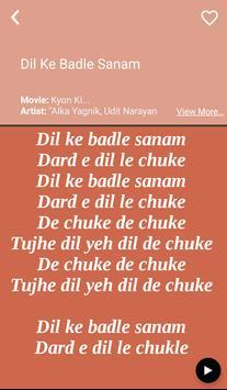 Hit Alka Yagnik's Songs Lyrics apk screenshot