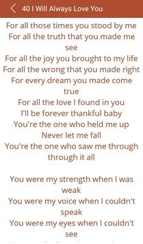 Hit Celine Dion's Songs Lyrics screenshot 16
