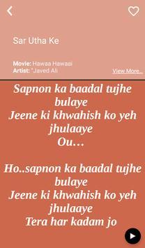 Hit Javed Ali's Songs Lyrics apk screenshot
