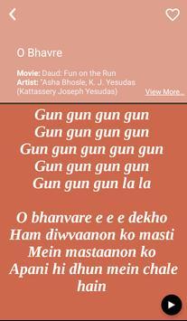 Hit K J Yesudas's Songs Lyrics apk screenshot