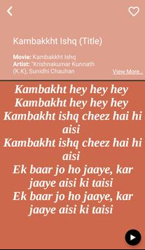 Krishnakumar Kunnath's Songs lyrics apk screenshot