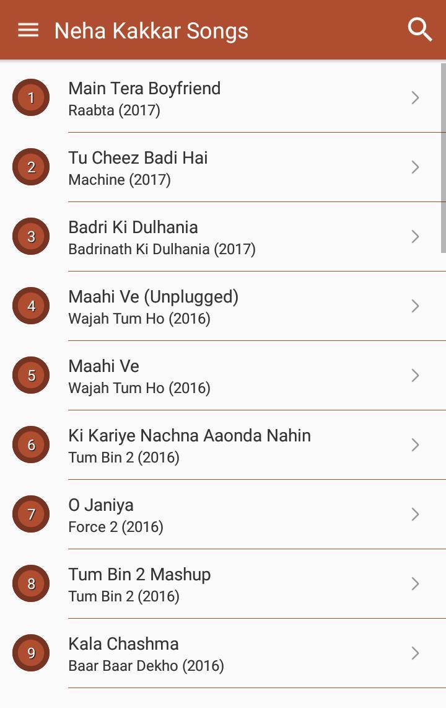 Hit Neha Kakkar's Songs Lyrics for Android - APK Download
