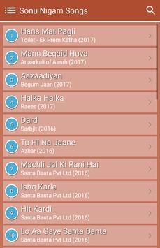 Hit Sonu Nigam's Songs Lyrics screenshot 1