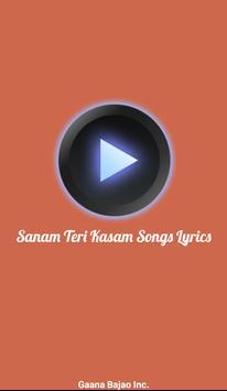 Sanam Teri Kasam Songs Lyrics poster