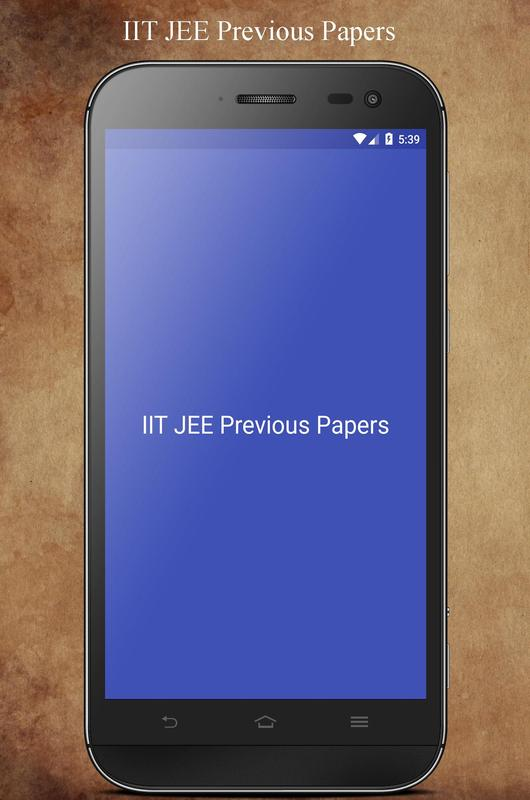iit jee papers with solutions pdf