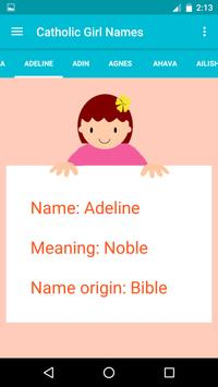 Catholic Baby Names screenshot 1